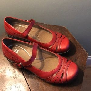 Brand new in box red Dansko Mathilda shoes